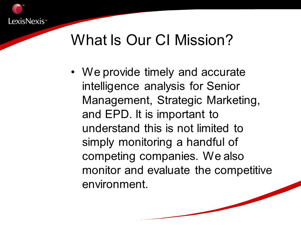 What Is Our CI Mission