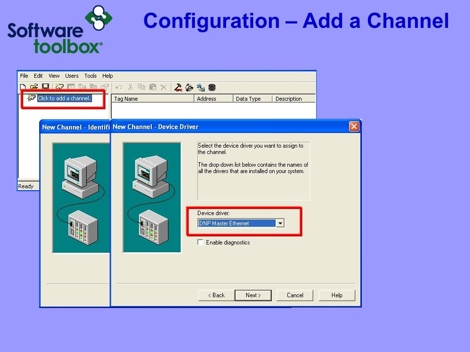 Configuration – Channel Setup Ethernet Driver