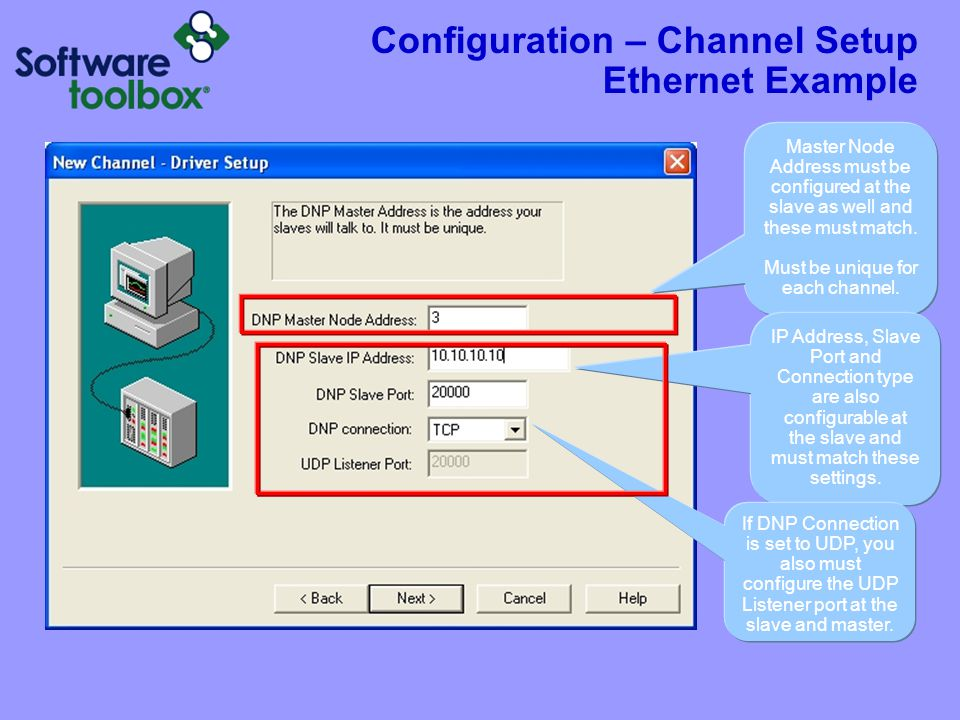 Configuration – Channel Setup Serial Example