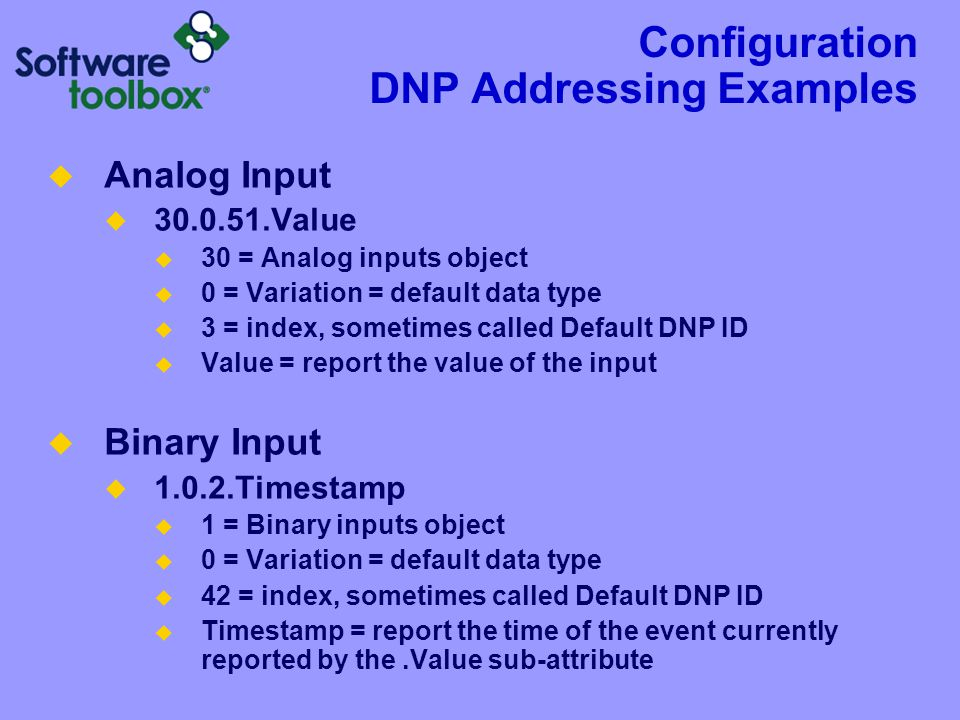 Configuration: DNP Addressing Important Subtleties to Know