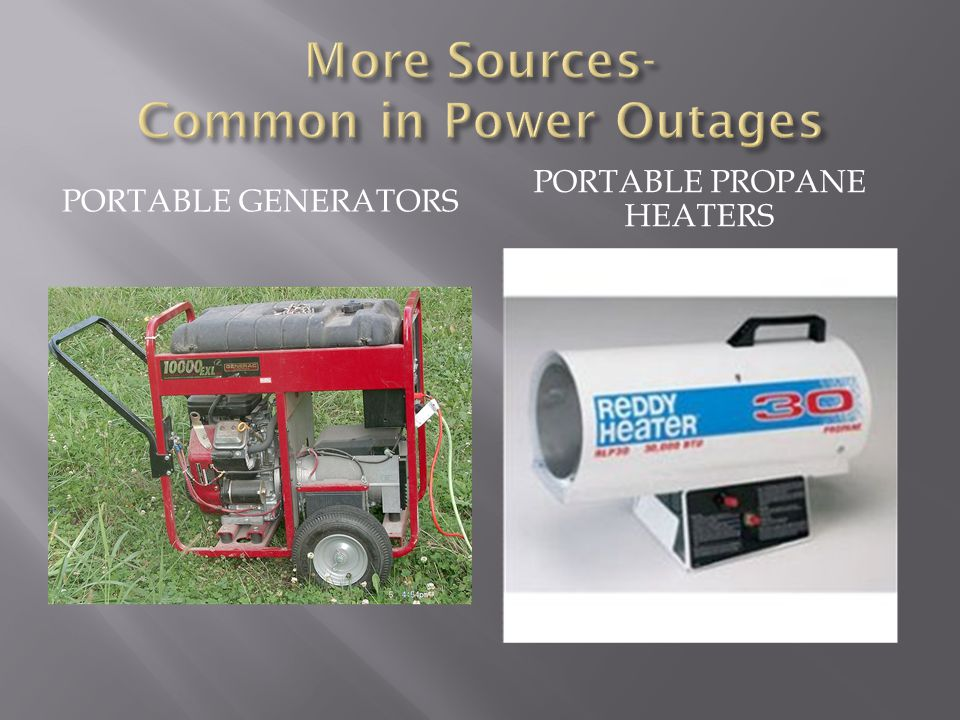 More Sources- Common in Power Outages