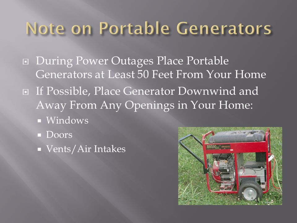 Note on Portable Generators