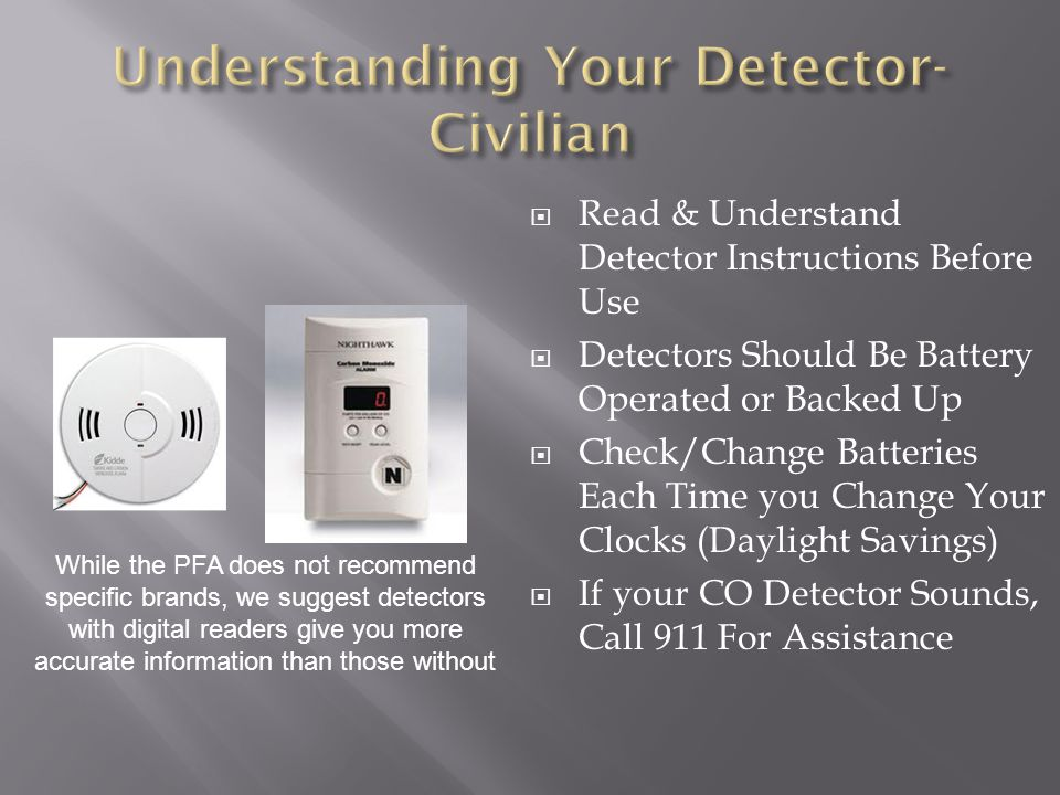 Understanding Your Detector- Civilian