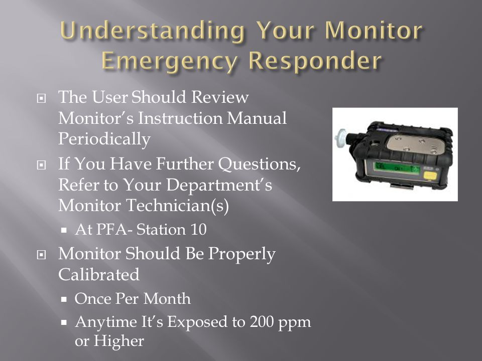Understanding Your Monitor Emergency Responder