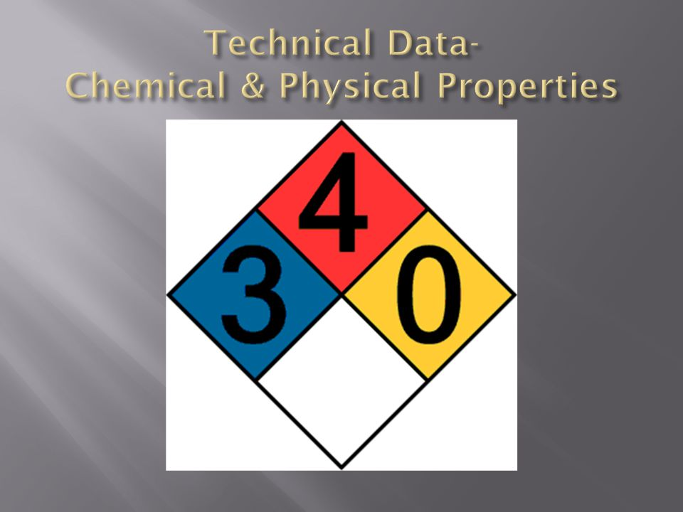 Technical Data- Chemical & Physical Properties