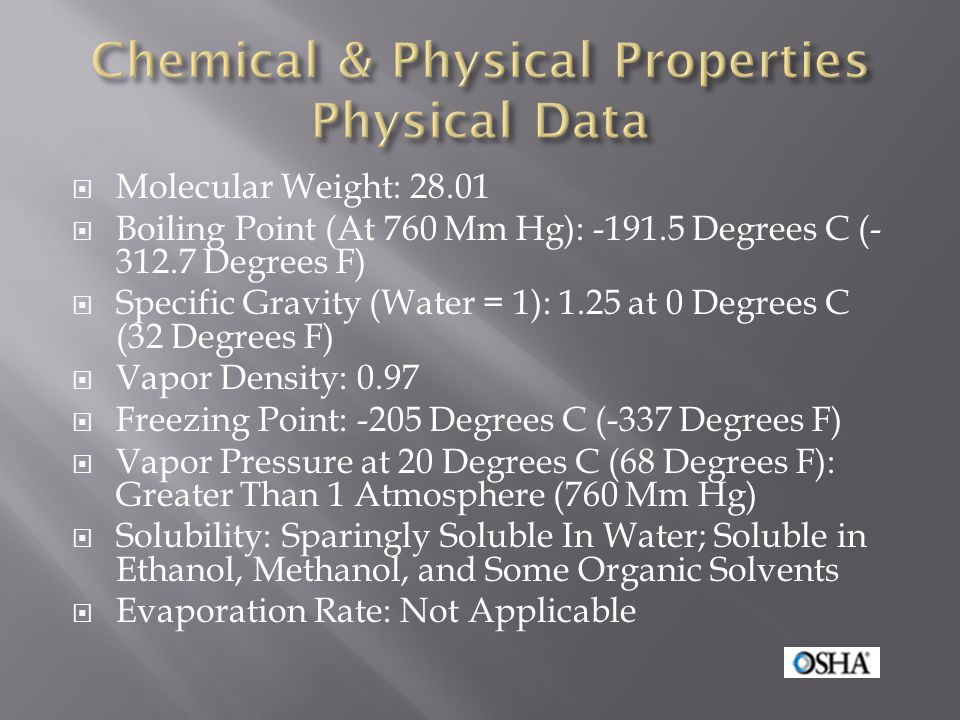 Chemical & Physical Properties Physical Data