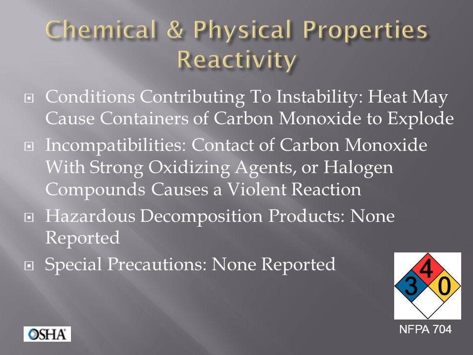 Chemical & Physical Properties Reactivity