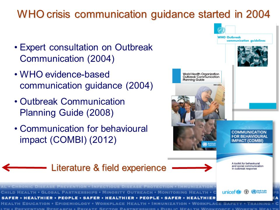 WHO crisis communication guidance started in 2004