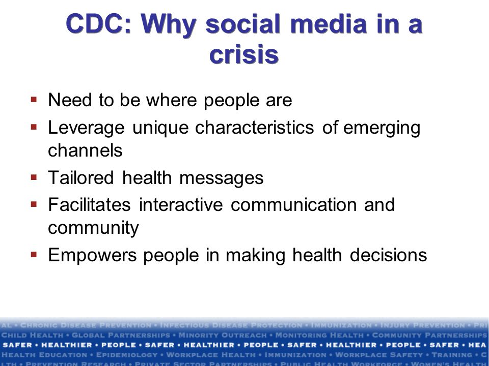CDC: Why social media in a crisis