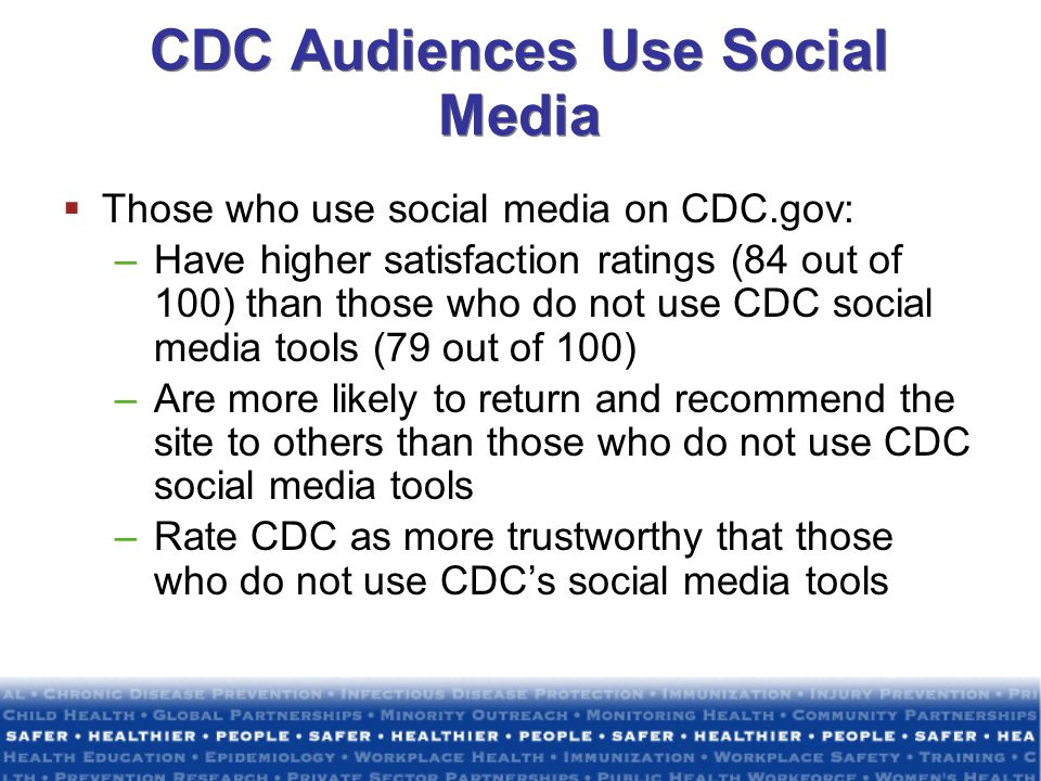CDC Audiences Use Social Media