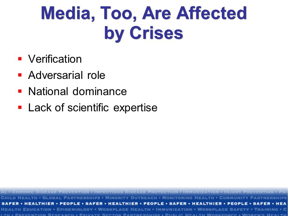 Media, Too, Are Affected by Crises