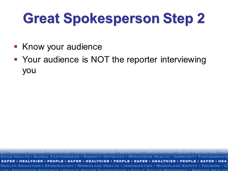 Great Spokesperson Step 2