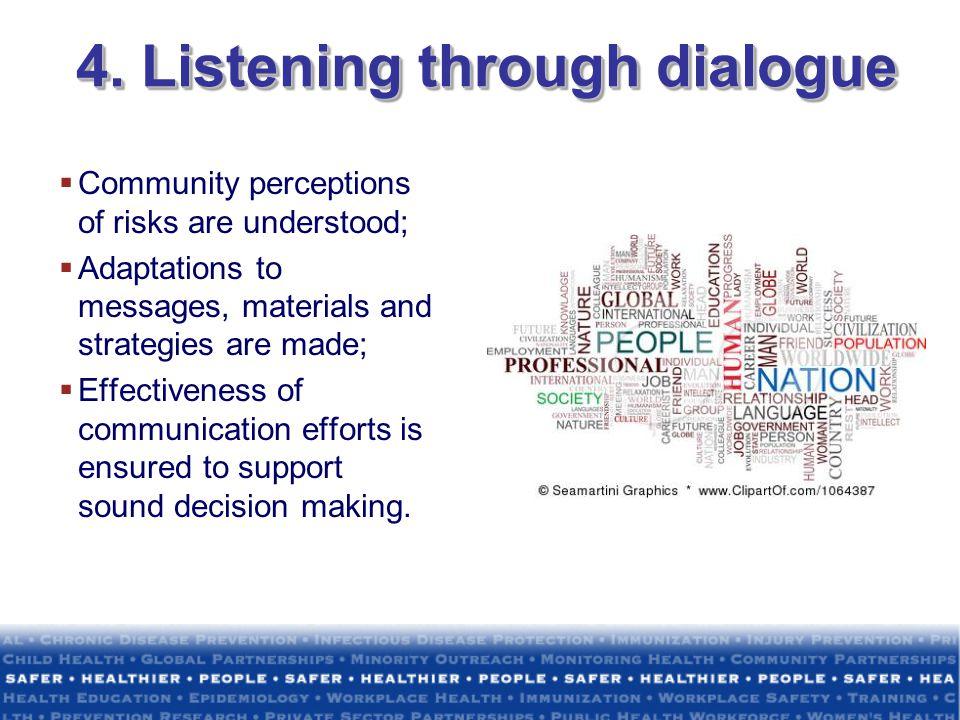 4. Listening through dialogue