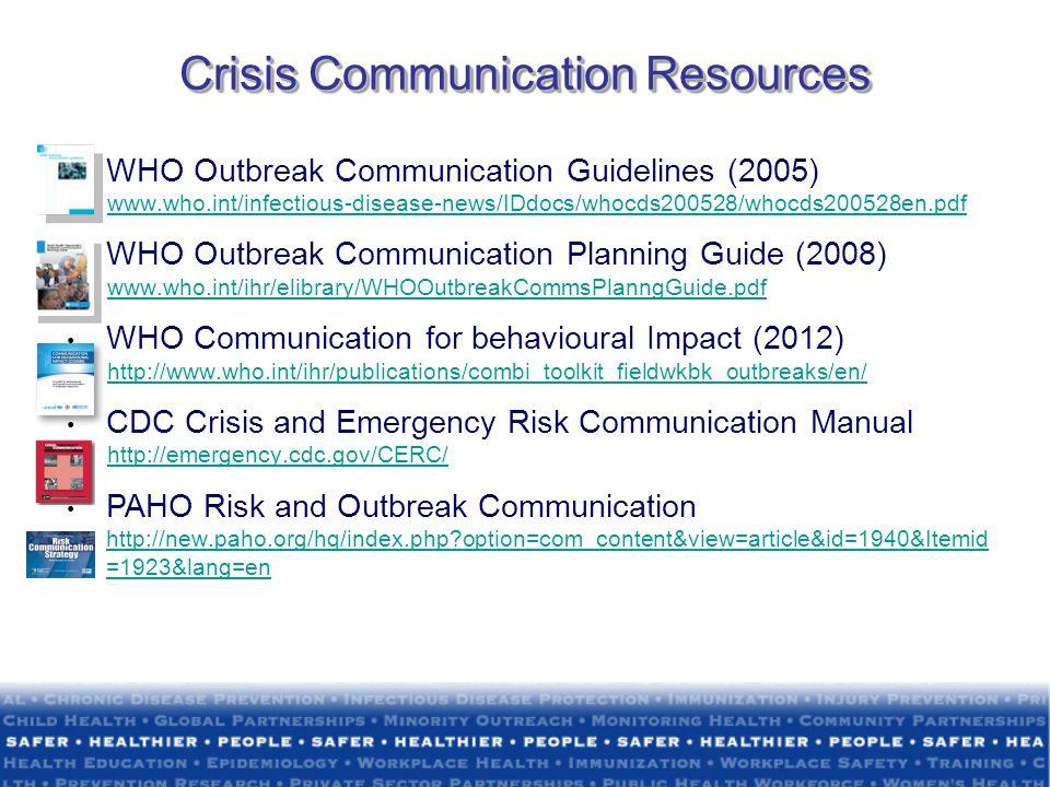Crisis Communication Resources