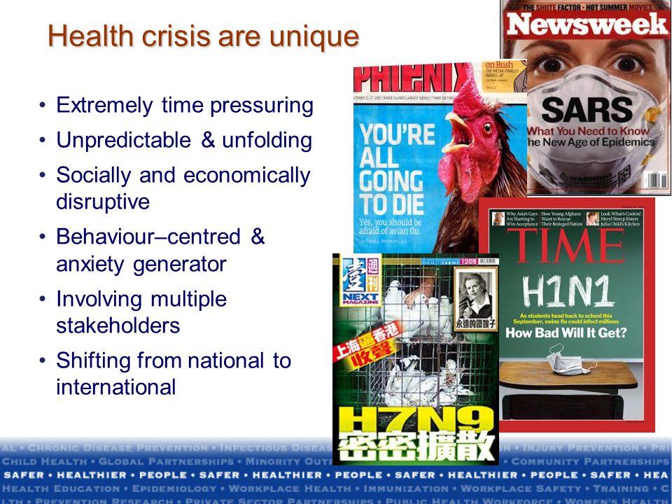 Health crisis are unique