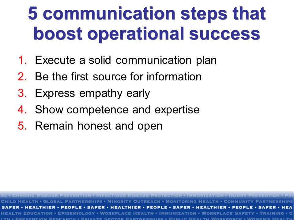 5 communication steps that boost operational success
