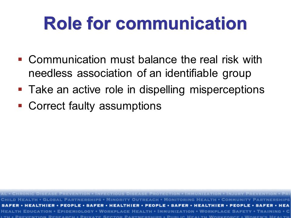 Role for communication