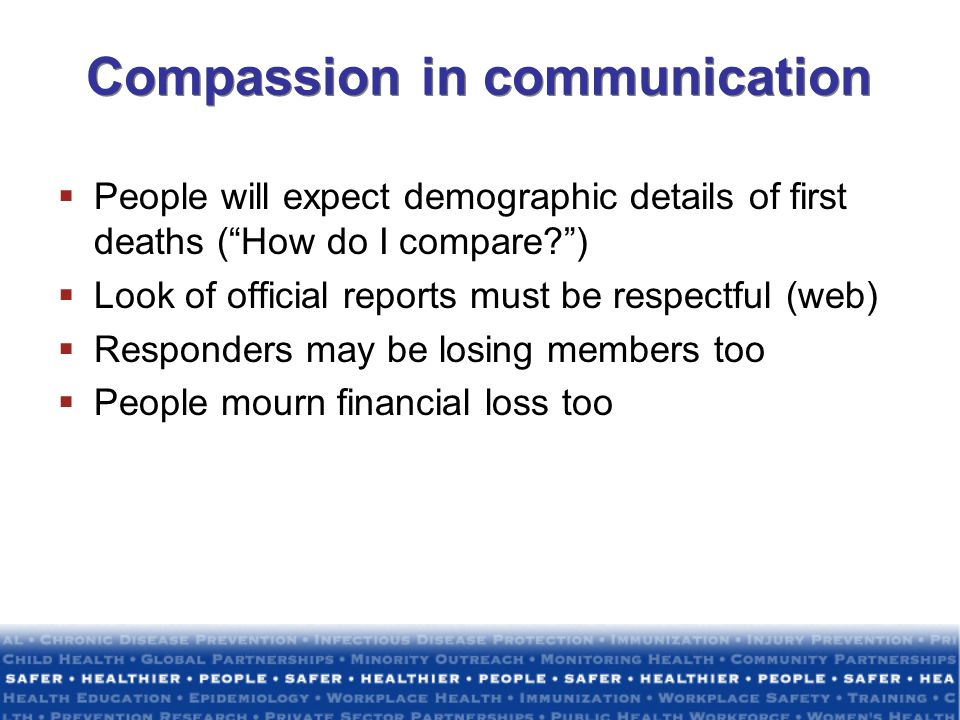 Compassion in communication