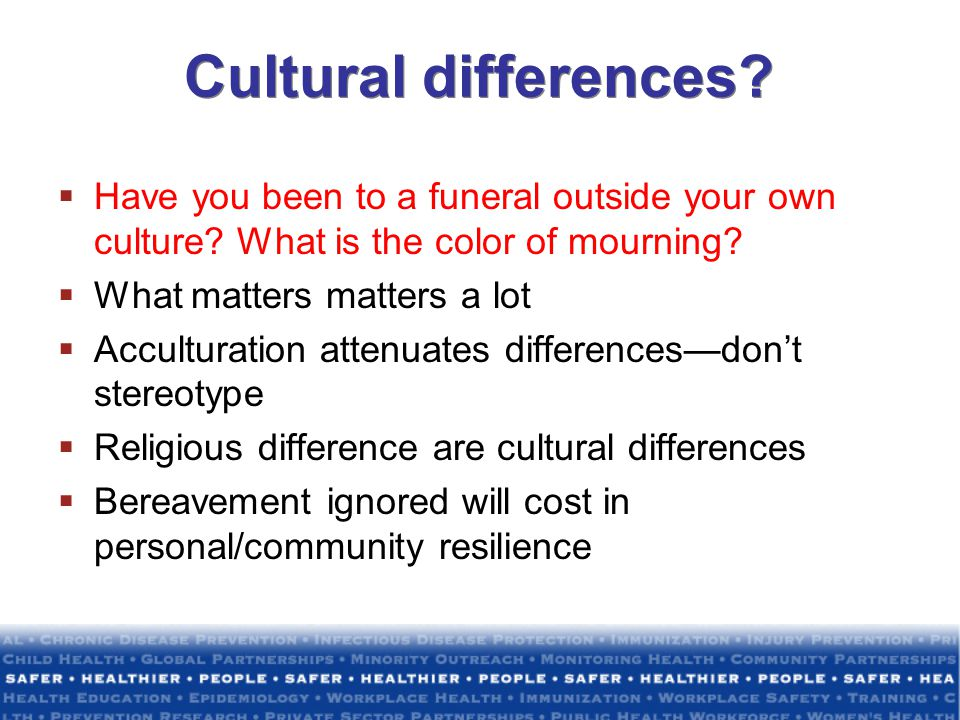 Cultural differences Have you been to a funeral outside your own culture What is the color of mourning