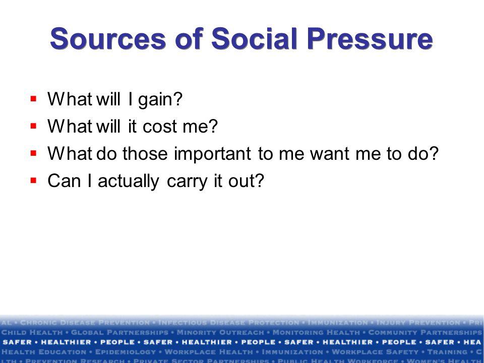 Sources of Social Pressure