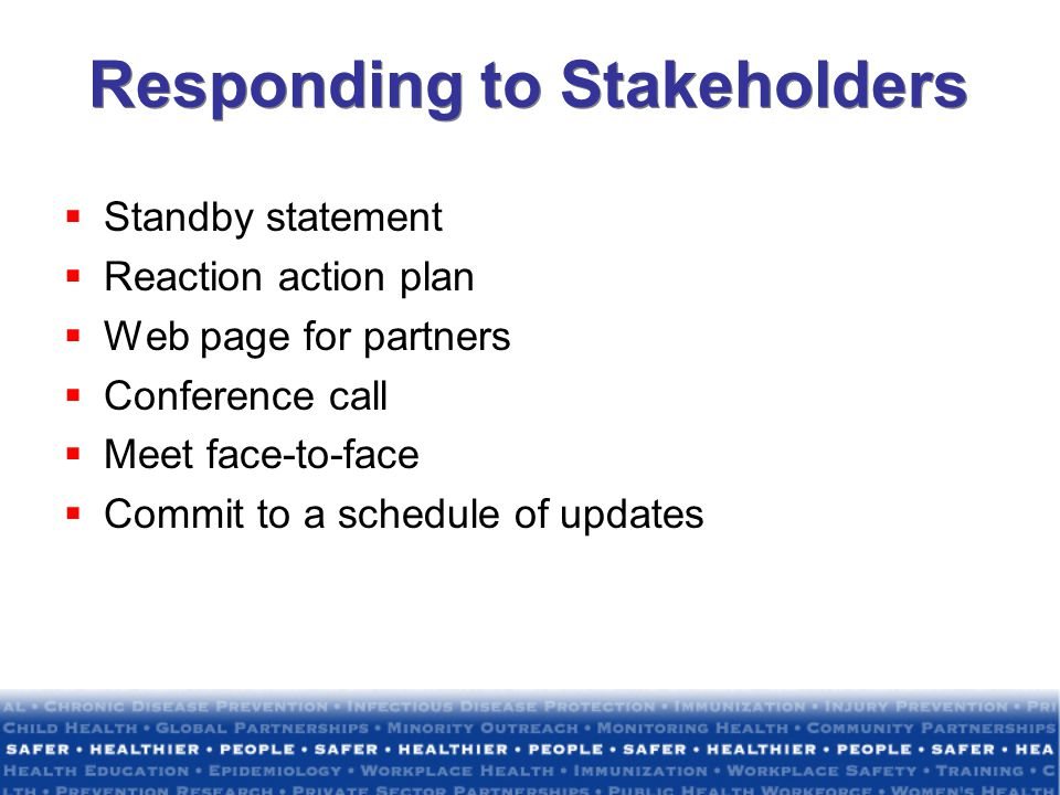 Responding to Stakeholders