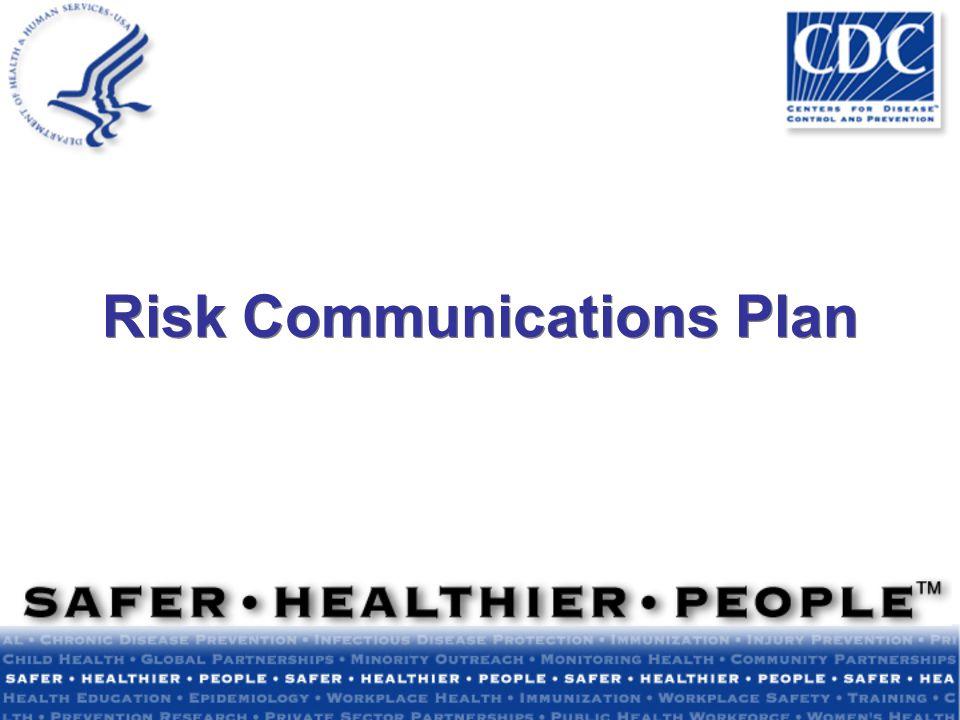 Risk Communications Plan