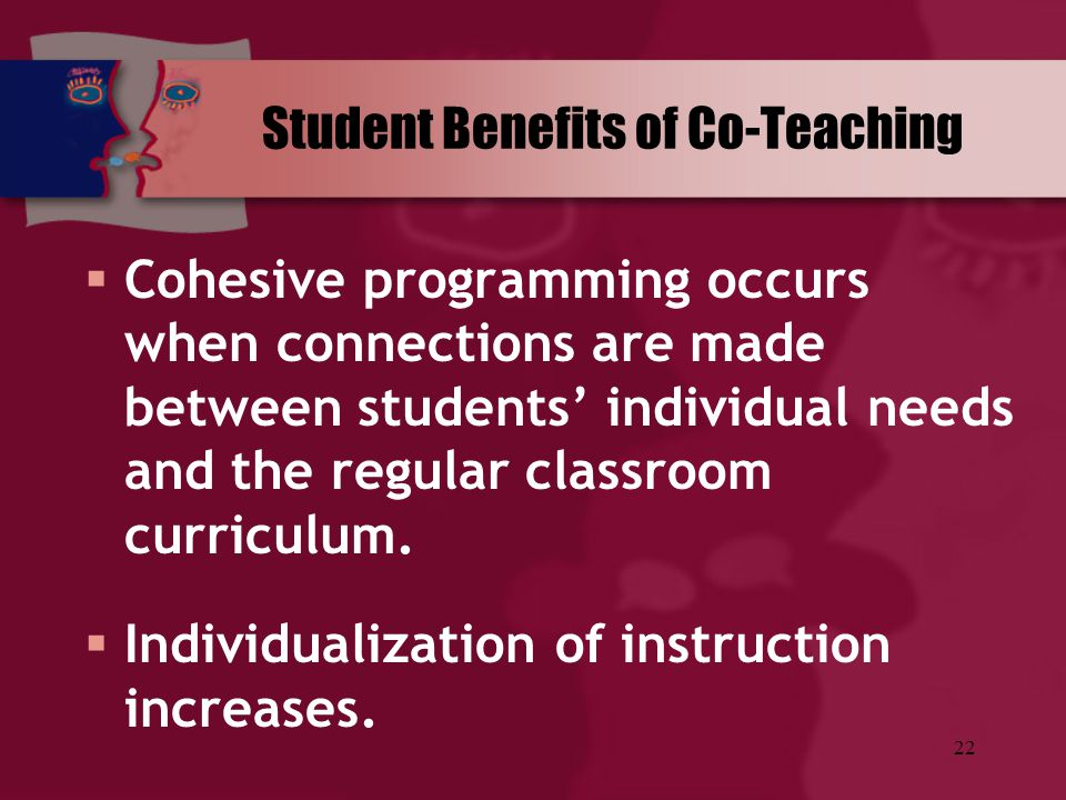 Student Benefits of Co-Teaching