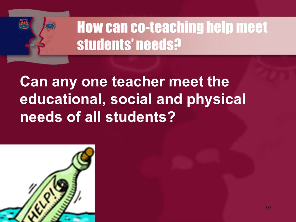 How can co-teaching help meet students' needs