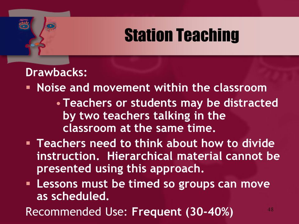 Station Teaching Drawbacks: Noise and movement within the classroom