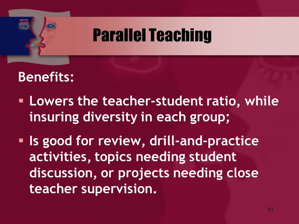 Parallel Teaching Benefits: