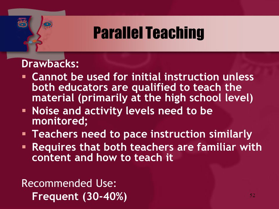 Parallel Teaching Drawbacks: