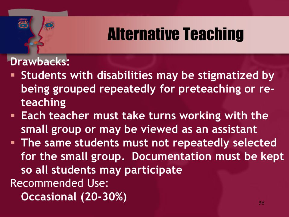 Alternative Teaching Drawbacks: