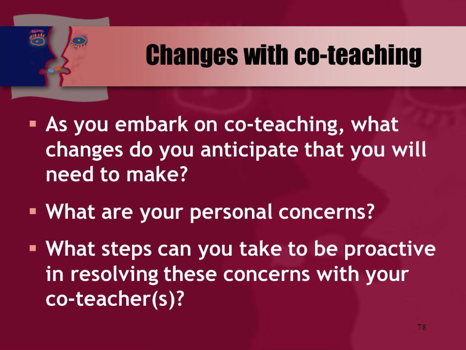 Changes with co-teaching