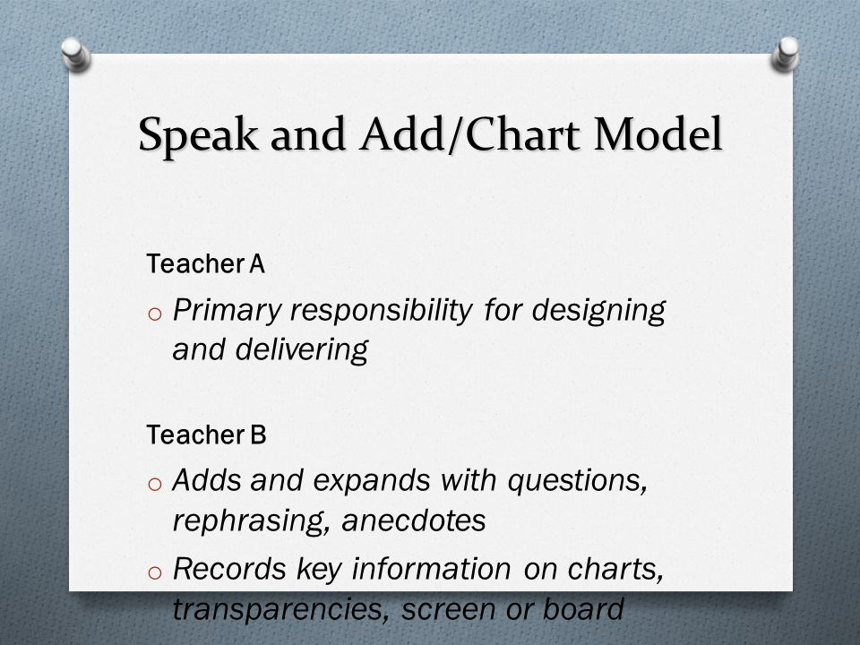 Speak and Add/Chart Model