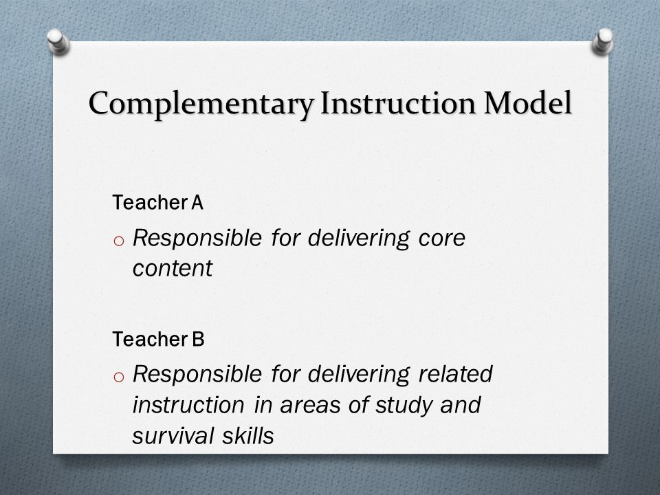 Complementary Instruction Model