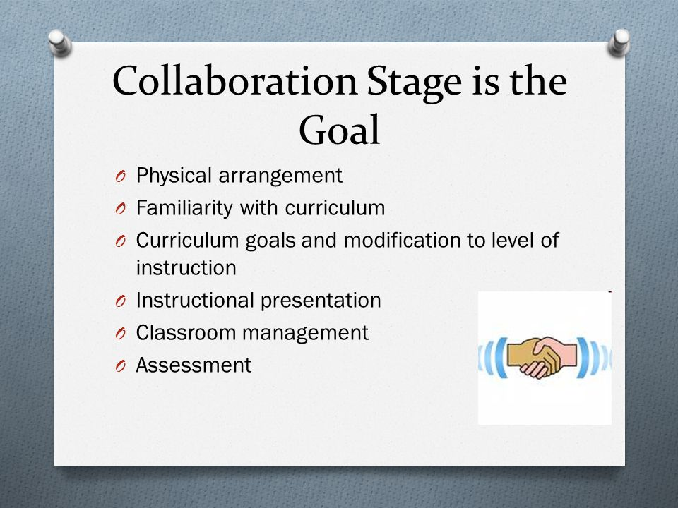 Collaboration Stage is the Goal