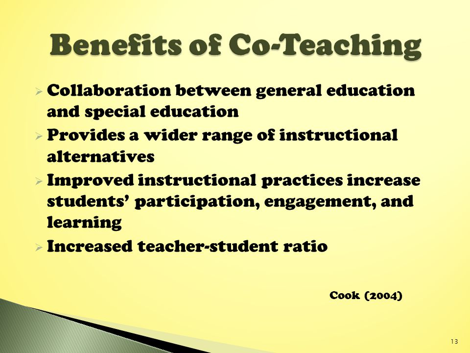 Collaborative Teaching Reaping The Benefits : Co teaching improving student learning and performance for