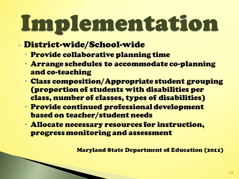 Implementation District-wide/School-wide