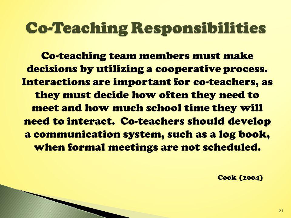 Co-Teaching Responsibilities
