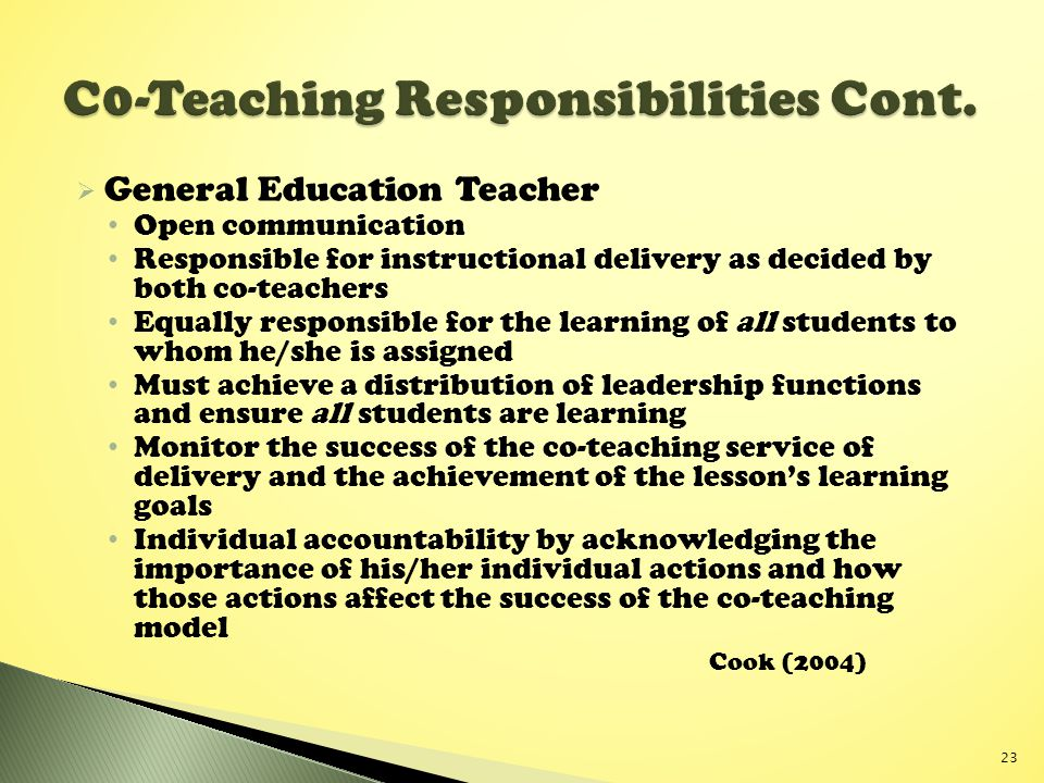 C0-Teaching Responsibilities Cont.