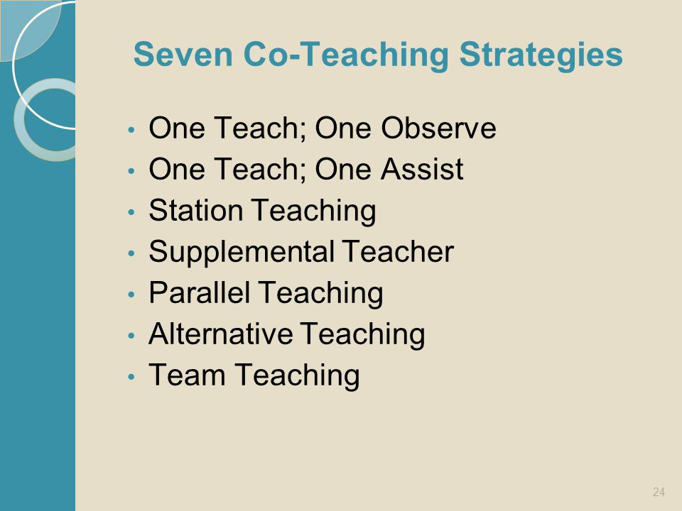 Seven Co-Teaching Strategies