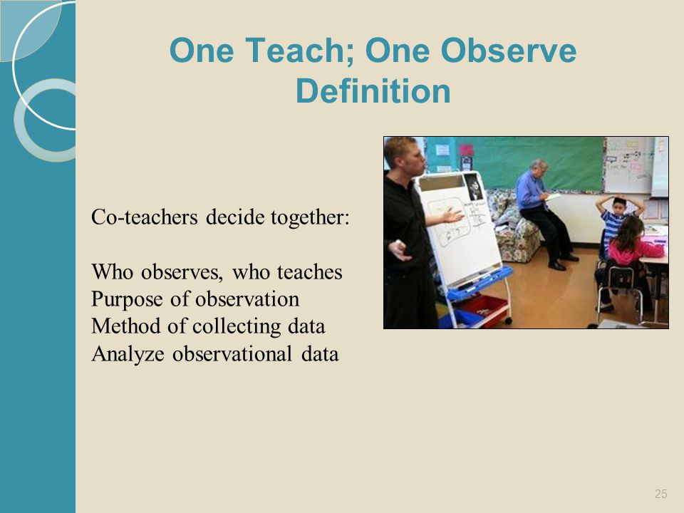One Teach; One Observe Definition
