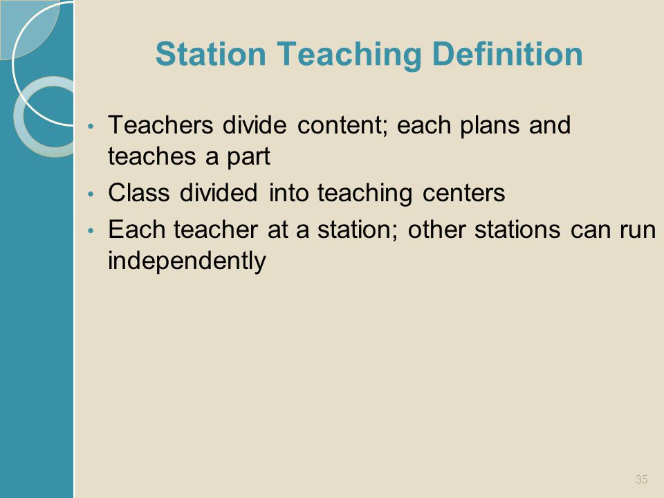 Station Teaching Definition