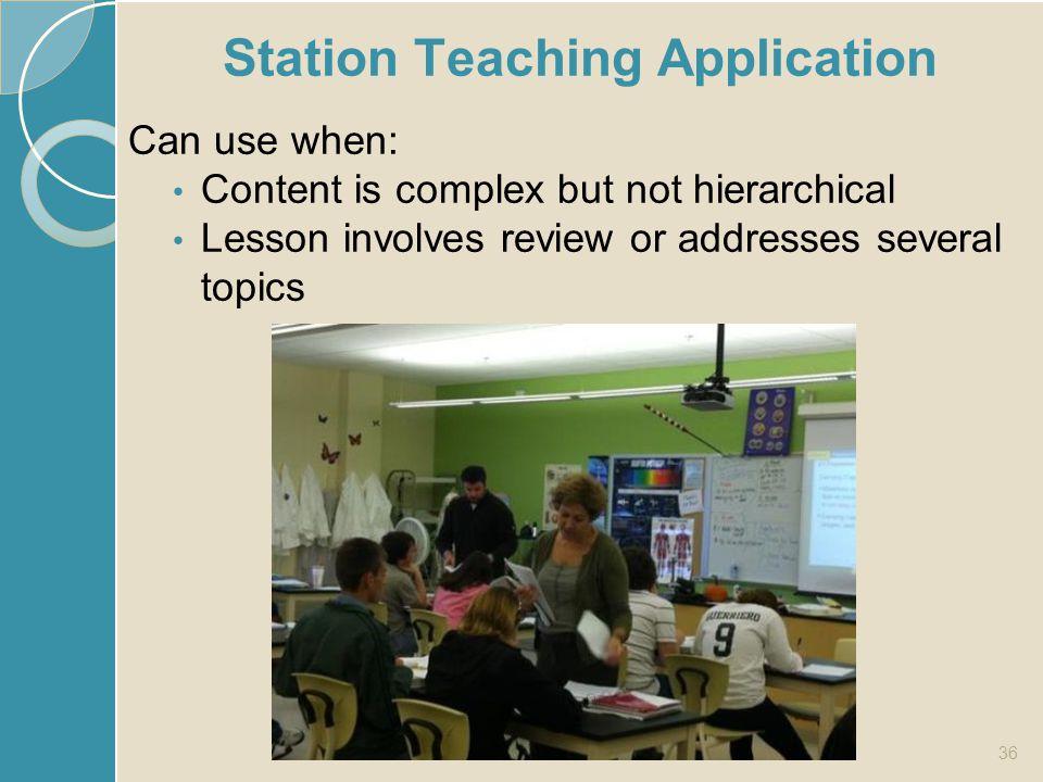 Station Teaching Application