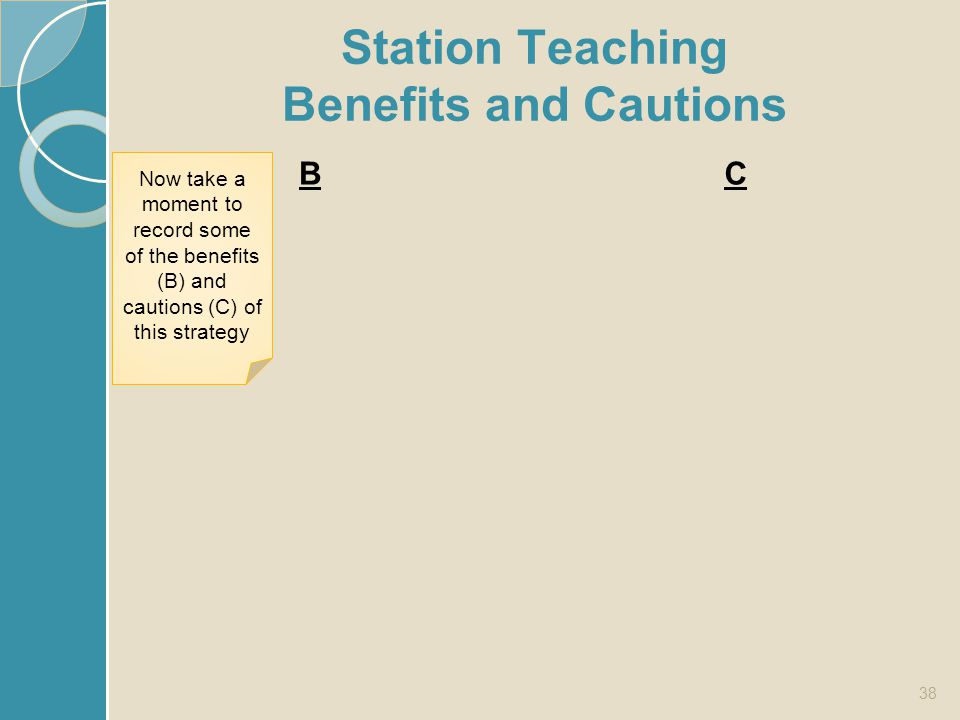 Station Teaching Benefits and Cautions