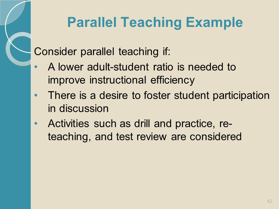 Parallel Teaching Example