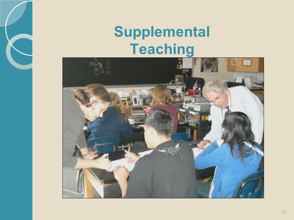 Supplemental Teaching