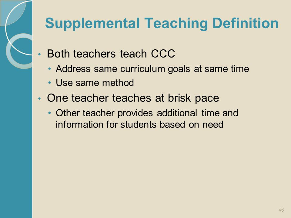 Supplemental Teaching Definition