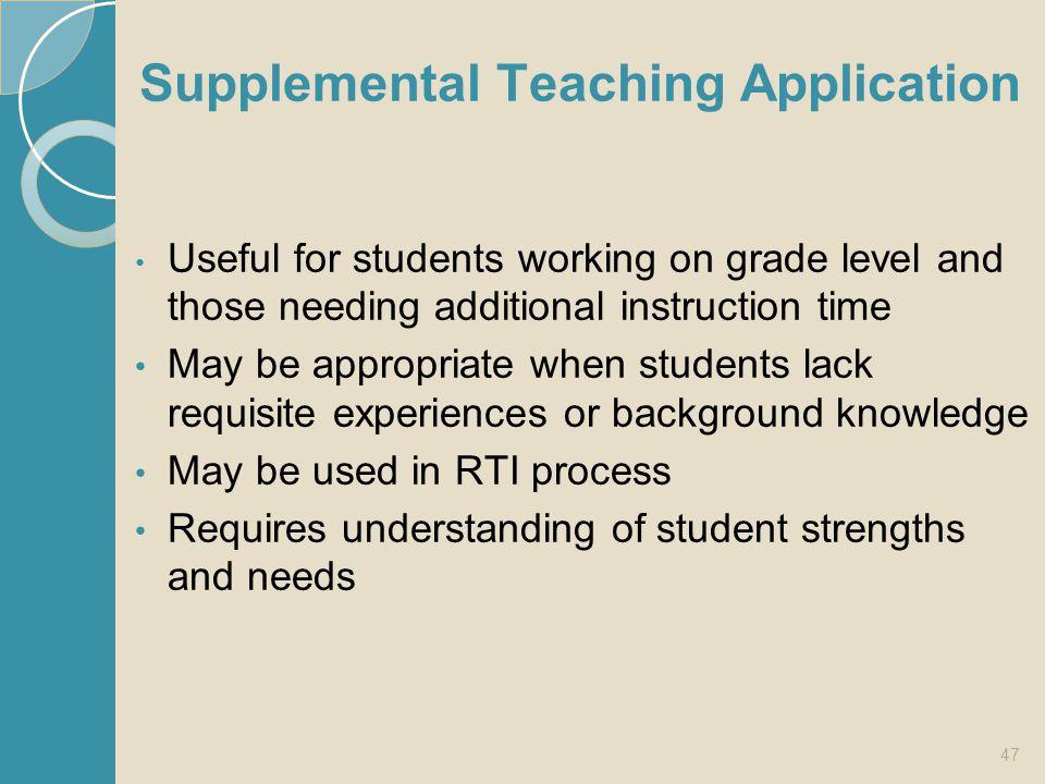 Supplemental Teaching Application