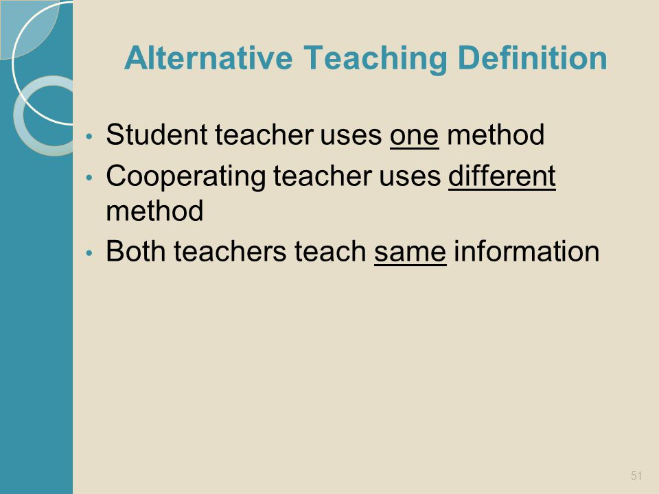 Alternative Teaching Definition
